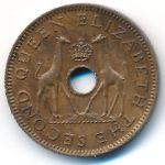 Родезия и Ньясаленд, 1/2 пенни (1955 г.)