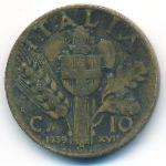 Италия, 10 чентезимо (1939 г.)