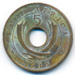 Восточная Африка, 5 центов (1935 г.)