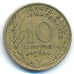 Франция, 10 сентим (1963 г.)