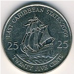 East Caribbean States, 25 cents, 2002–2007