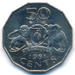 Свазиленд, 50 центов (1981 г.)