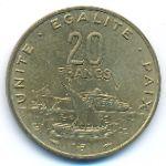 Джибути, 20 франков (1983–2016 г.)