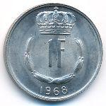 Люксембург, 1 франк (1968 г.)