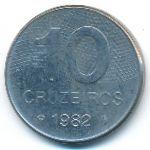 Бразилия, 10 крузейро (1982 г.)