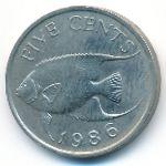 Бермудские острова, 5 центов (1986 г.)
