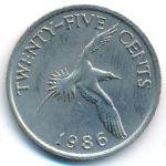 Бермудские острова, 25 центов (1995 г.)