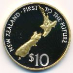Новая Зеландия, 10 долларов (2000 г.)