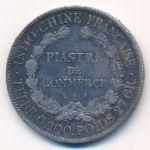 Французский Индокитай, 1 пиастр (1908 г.)