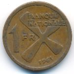 Катанга, 1 франк (1961 г.)