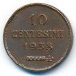 Сан-Марино, 10 чентезимо (1938 г.)