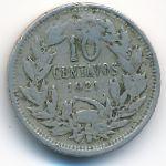 Чили, 10 сентаво (1921 г.)