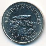 Джерси, 10 пенсов (1984 г.)