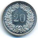Швейцария, 20 раппенов (1982 г.)