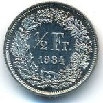 Швейцария, 1/2 франка (1982 г.)