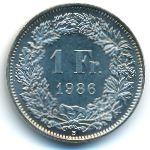 Швейцария, 1 франк (1986 г.)