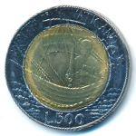 Ватикан, 500 лир (1985 г.)