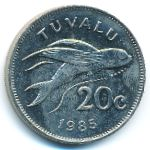 Тувалу, 20 центов (1985 г.)
