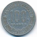 Центральная Африка, 100 франков (1972 г.)