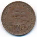 ЮАР, 1 пенни (1951–1952 г.)