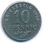 Хаттинген., 10 пфеннигов (1918 г.)