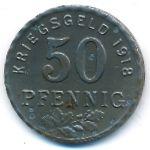 Хаттинген., 50 пфеннигов (1918 г.)
