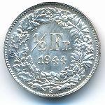 Швейцария, 1/2 франка (1944 г.)