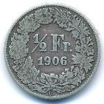 Швейцария, 1/2 франка (1906 г.)