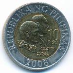 Филиппины, 10 песо (2008 г.)