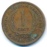 Восточные Карибы, 1 цент (1955 г.)