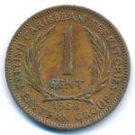 Восточные Карибы, 1 цент (1958 г.)