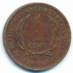 Восточные Карибы, 1 цент (1960 г.)
