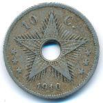 Бельгийское Конго, 10 сентим (1910 г.)