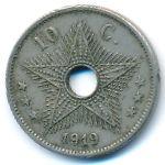 Бельгийское Конго, 10 сентим (1919 г.)