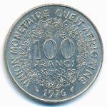 Западная Африка, 100 франков (1976 г.)