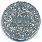 Западная Африка, 100 франков (1987 г.)