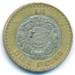 Мексика, 10 песо (1998 г.)