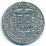 Западная Африка, 50 франков (1980 г.)