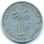Руанда-Урунди, 1 франк (1960 г.)