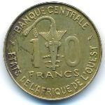 Западная Африка, 10 франков (1975 г.)