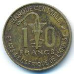 Западная Африка, 10 франков (1971 г.)