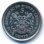 Сьерра-Леоне, 5 центов (1984 г.)