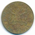 Кения, 10 центов (1986 г.)