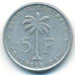 Руанда-Урунди, 5 франков (1956 г.)