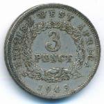 Британская Западная Африка, 3 пенса (1943 г.)
