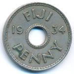 Фиджи, 1 пенни (1934 г.)