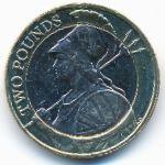 Великобритания, 2 фунта (2015 г.)