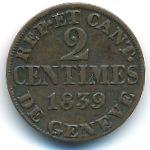 Женева, 2 сентима (1839 г.)