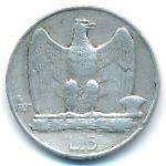 Италия, 5 лир (1927 г.)