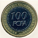 Central African Republic, 100 francs, 2006